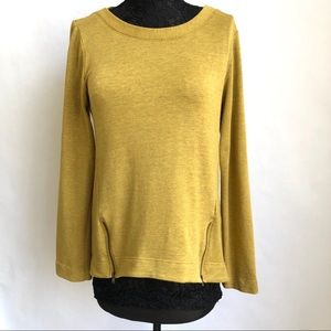 Anthropologie Boudreaux Mustard Long Sleeve Top